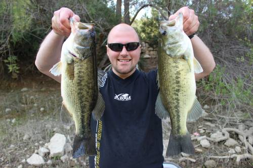 doppel black bass fang im angelcamp von taffi tackle tours